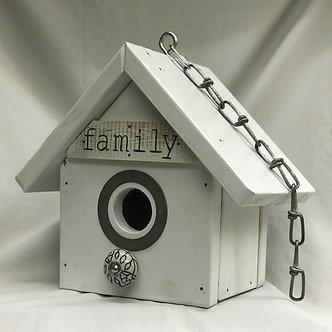 White Wood Family Birdhouse