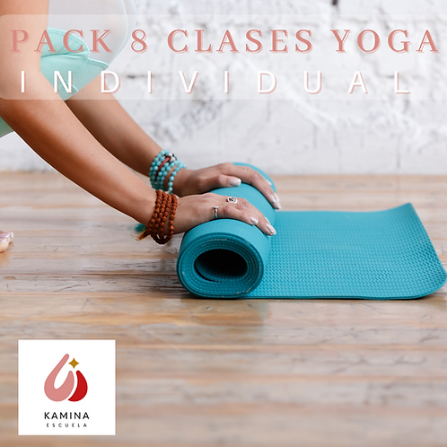 Pack 8 Clases de Yoga Individual