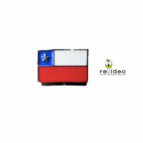 Pin pintado Bandera CHP09