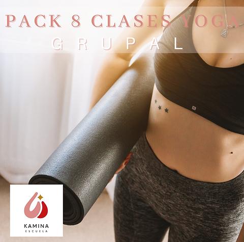 Pack 8 Clases de Yoga Grupal