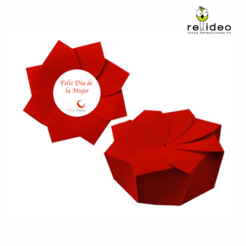 Caja Flor 3 bombones CHO02