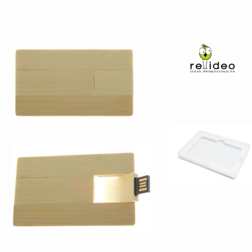 Tarjeta Pendrive Bambu PEN08