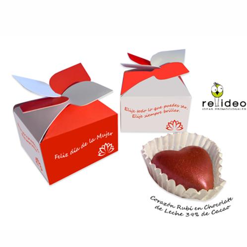 Caja c/1 corazon chocolate CHO29