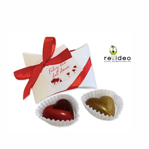Box 2 chocolates corazon CHO27
