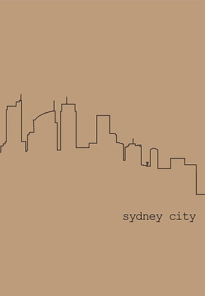 A5 sketch/notebook | sydney cityscape {SYD402}
