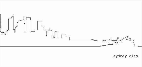 dl card | sydney cityscape {SYD202}