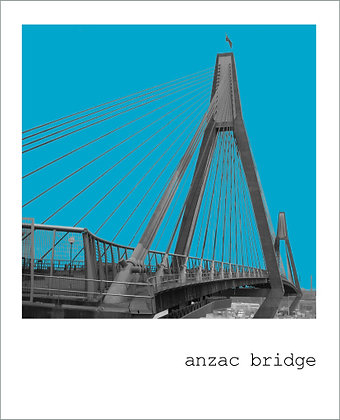 postcard | anzac bridge {SYD122}