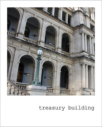 postcard | treasury building {BNE101}