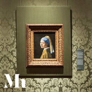 The Girl With a Pearl Earring Textured Replica