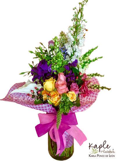 Arreglo Floral   Rosas   Lisianthus
