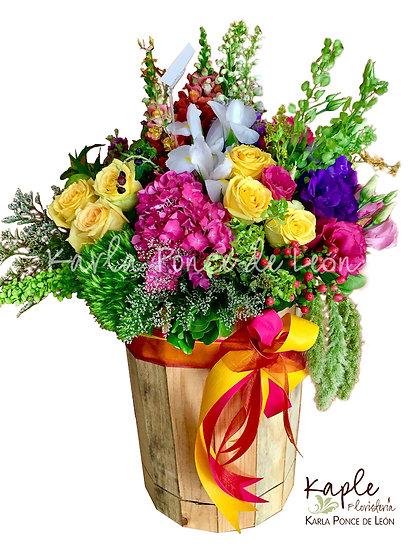Arreglo Floral | Rosas | Hortencias | Lisianthus | Iris