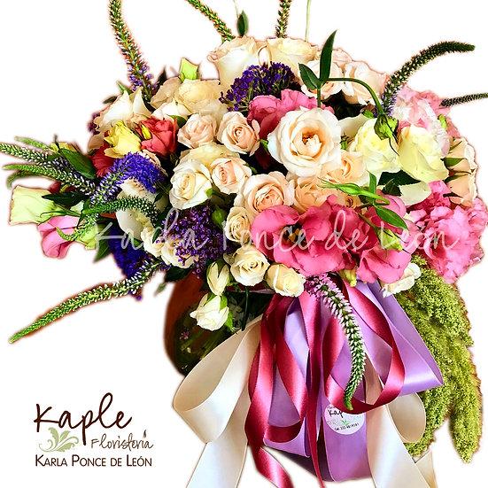 Arreglo Floral | ROSAS BLANCAS | LISIANTHUS ROSAS | BABY ROSE BLANCAS