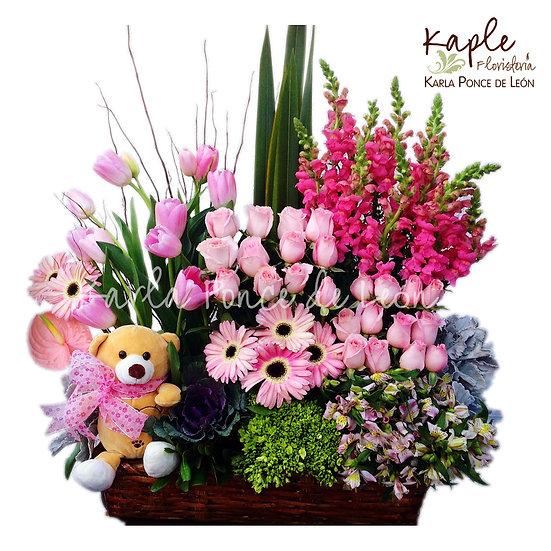Arreglo Floral | Rosas | Tulipanes | Anturios