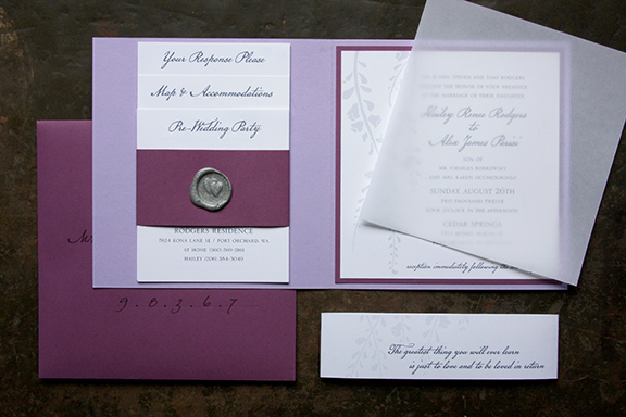 Twilight Inspired Wedding Invitation