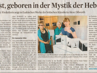 Newspaper Article on my show unfortunately I can't speak German!