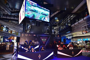 EVOS Esports (blue team) and Aerowolf SG