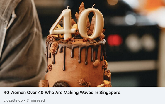40 Women Over 40 Who Are Making Waves In Singapore