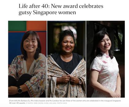 Life after 40: New award celebrates gutsy Singapore women