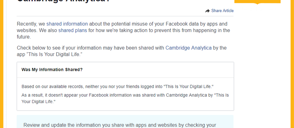 כיצד לדעת אם הפרטים שלכם זלגו לקיימברידג' אנאליטיקס והאם פייסבוק מאזינים לנו באמצעות המיקרופון