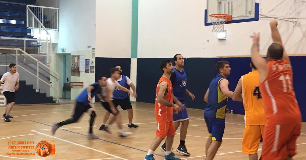 """עירוני מיז""""מ  - אולדסטארס - ליגת ראשון לציון בכדורסל אולמות"""