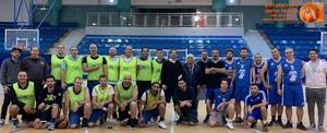 קבוצות האוונג'רס / אינגליש סנטר וקבוצת האולדסטראס לאחר משחק האימון