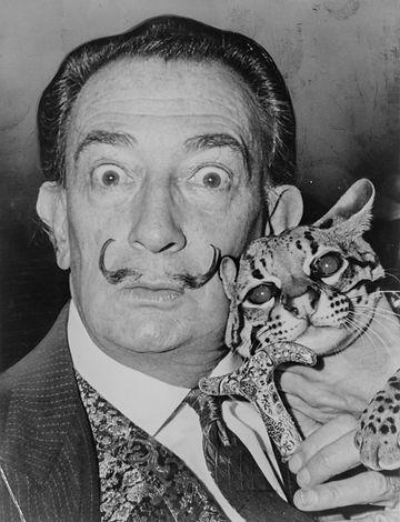 Dali_With_pet_ocelot_1965_photo__Roger_Higgins