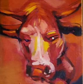 Year of the Ox  lailas first oil paintin