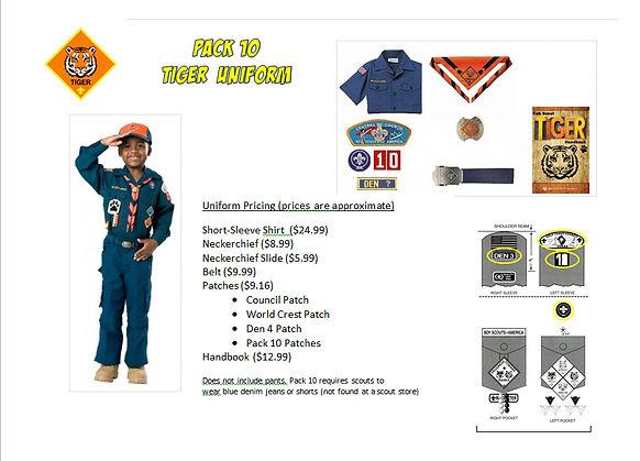Pack 10 Uniforms | Pack 10 Cub Scouts Concord NC