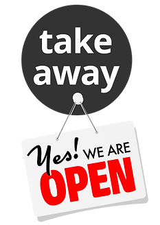 Take away we are open.png