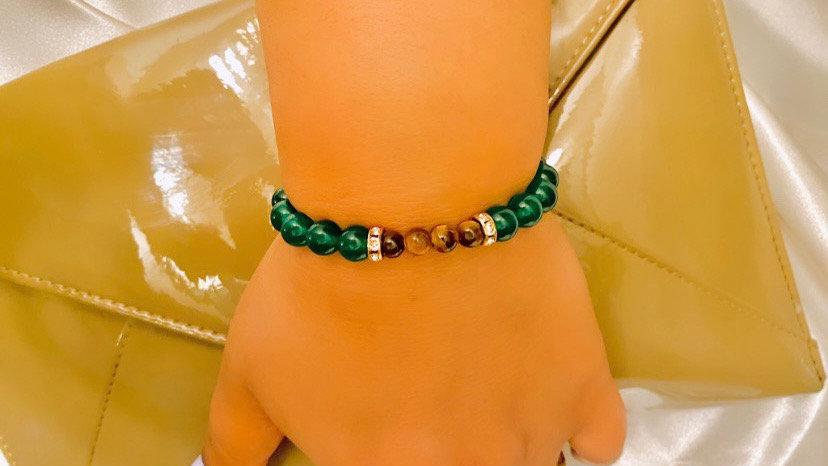 """""""Jaded"""" Tigers Eye and Jade Bracelet"""