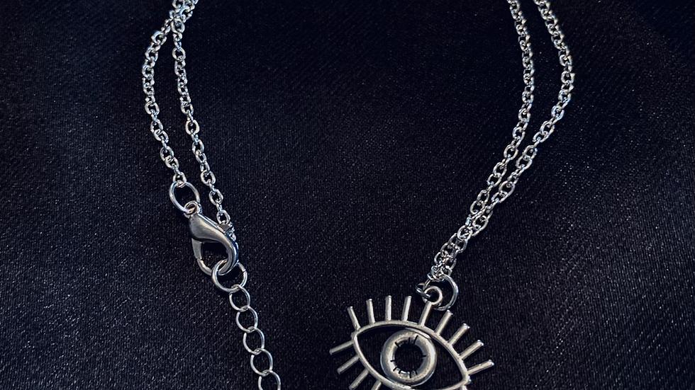 """Eye See You"" Evil Eye Necklace"