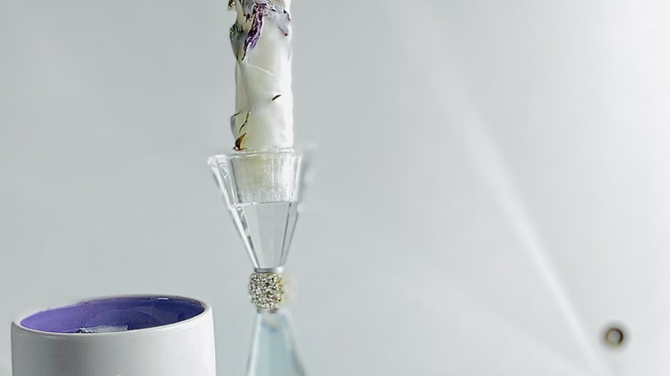 'Pure Protection'  white altar/spell candle