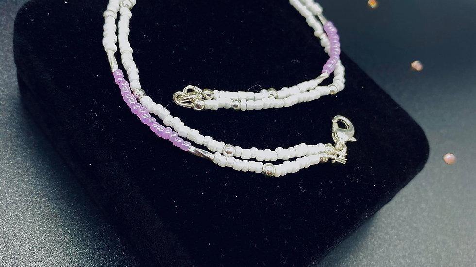 """Lilac"" Anklet"