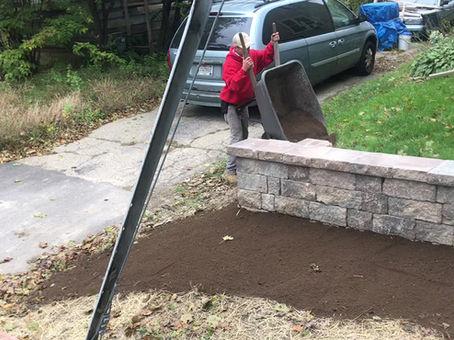 Retaining wall & walk way pavers