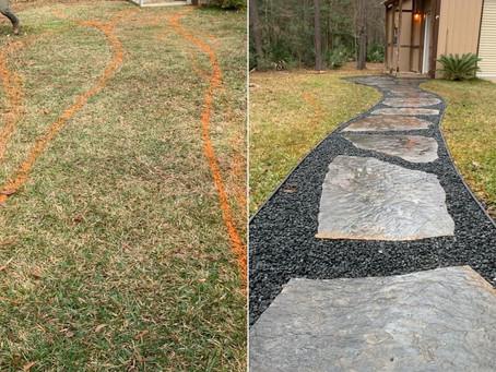 New back yard walk path