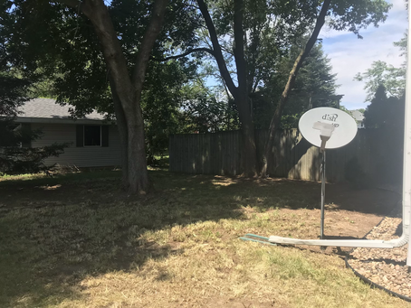 Mowed tall grass on Residential property