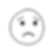 transparent-black-and-white-worried-emoj