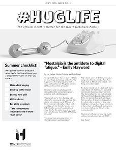 Hug Life Monthly Newsletter July 2020 -
