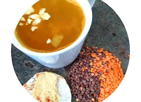 Curried Red & Brown Lentil Soup