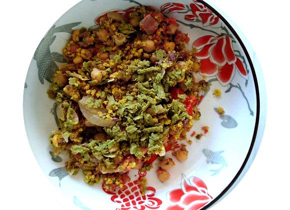 Chickpea, Quinoa & Millet Bake
