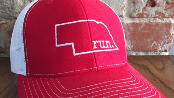 run nebraska trucker hat