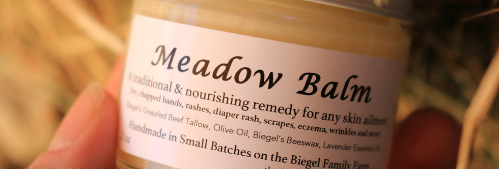 Meadow Balm with our own Grass-fed Beef Tallow 2oz