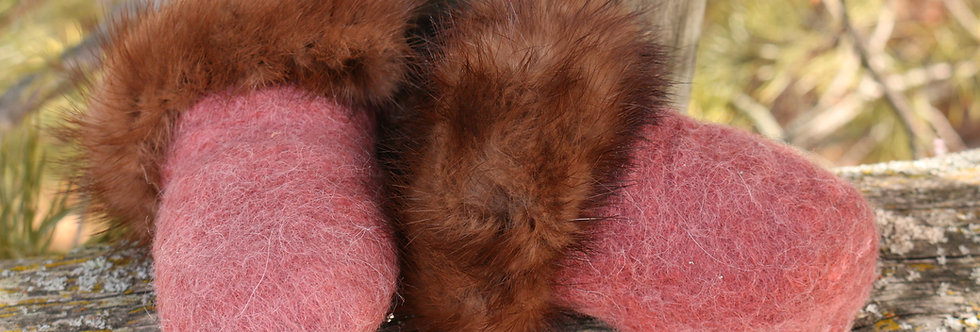 Felted Alpaca Baby Mitts
