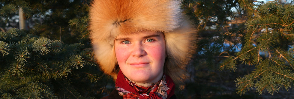 Russian Trooper Fox Fur Hat