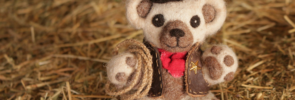 Cowboy Theme Teddy Bear