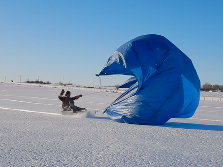 Snow Sailing