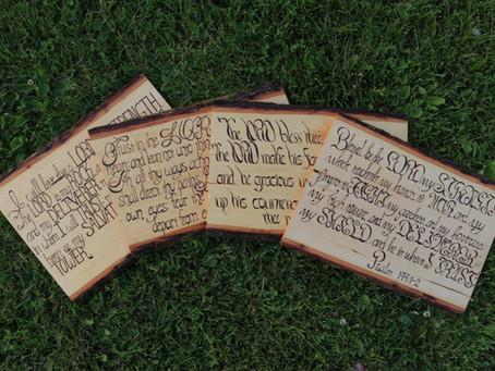 Wood Burned Word Art