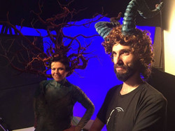 Director with horns