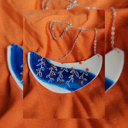 Painted Blue Zest - necklace
