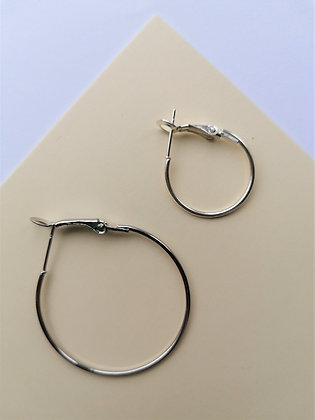 Silver Hoops ONLY